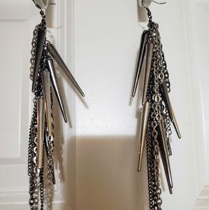 Dangling fish hook earrings